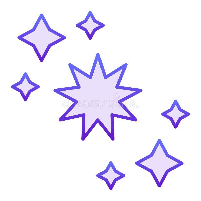Flache Ikone der Konstellation Violette Ikonen der Sterne in der modischen flachen Art Astrologiesteigungs-Artentwurf, bestimmt f stock abbildung
