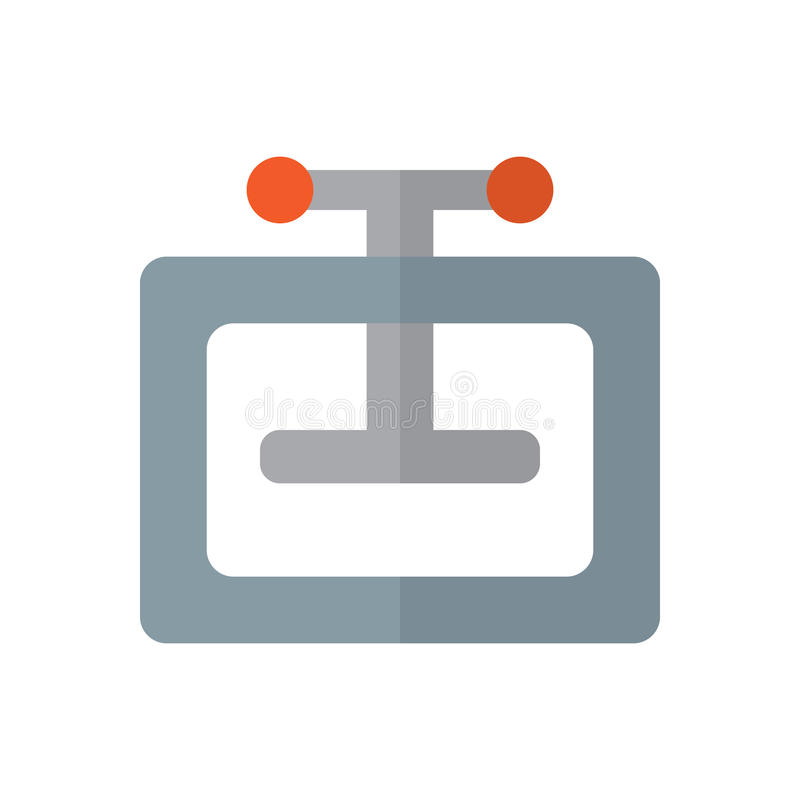 Flache Ikone der manuellen Pressemaschine, gefülltes Vektorzeichen, buntes Piktogramm lokalisiert auf Weiß lizenzfreie abbildung