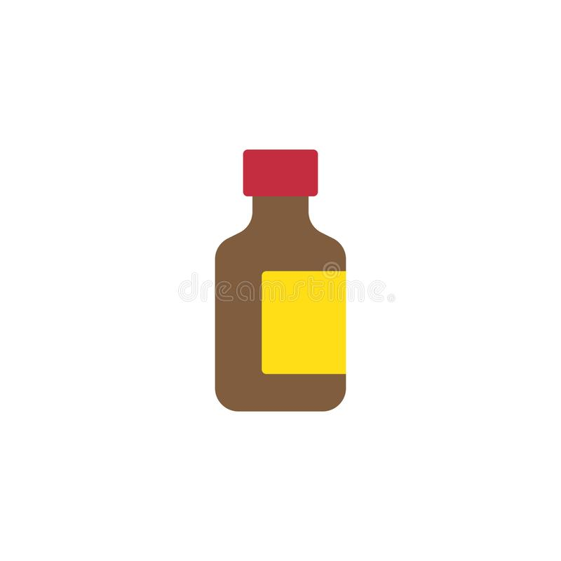 Flache Ikone der Medizin-Flasche stock abbildung