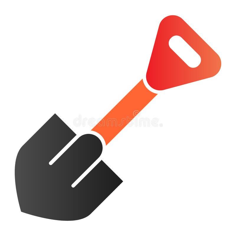 Flache Ikone der Schaufel Werkzeugfarbikonen in der modischen flachen Art Baggersteigungsartentwurf, bestimmt f?r Netz und App EN lizenzfreie abbildung