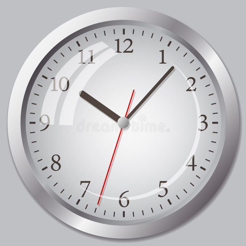 Flache Ikone der Uhr Stoppuhr als Erdkugel auf einem weißen Hintergrund stock abbildung