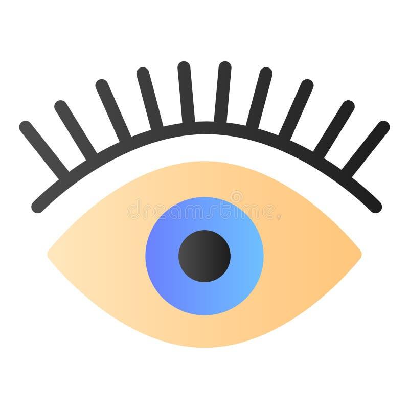 Flache Ikone der Wimpern Augenfarbikonen in der modischen flachen Art Schönheitssteigungs-Artentwurf, bestimmt für Netz und App E lizenzfreie abbildung