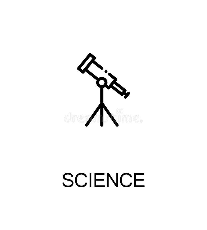 Flache Ikone der Wissenschaft lizenzfreie abbildung