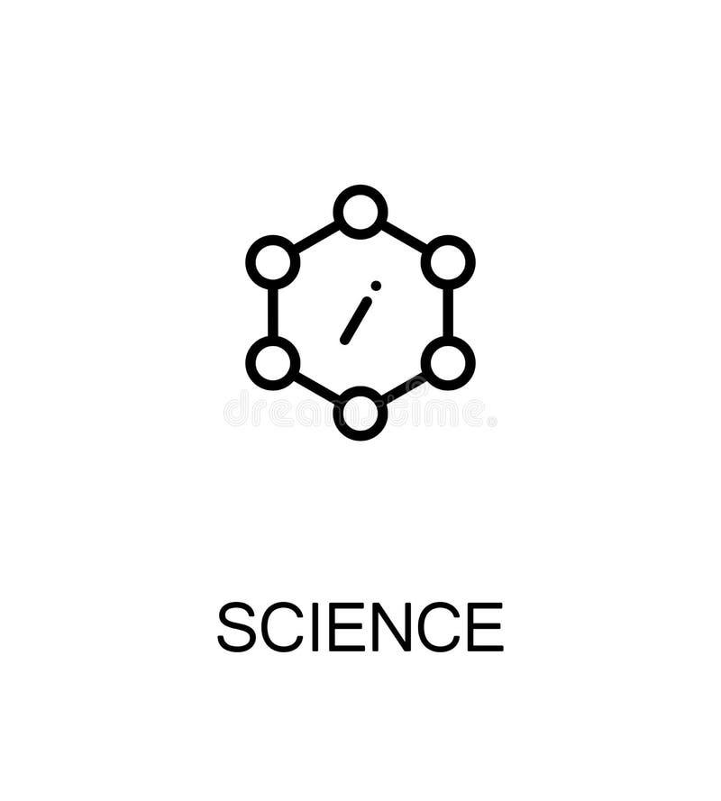 Flache Ikone der Wissenschaft stock abbildung