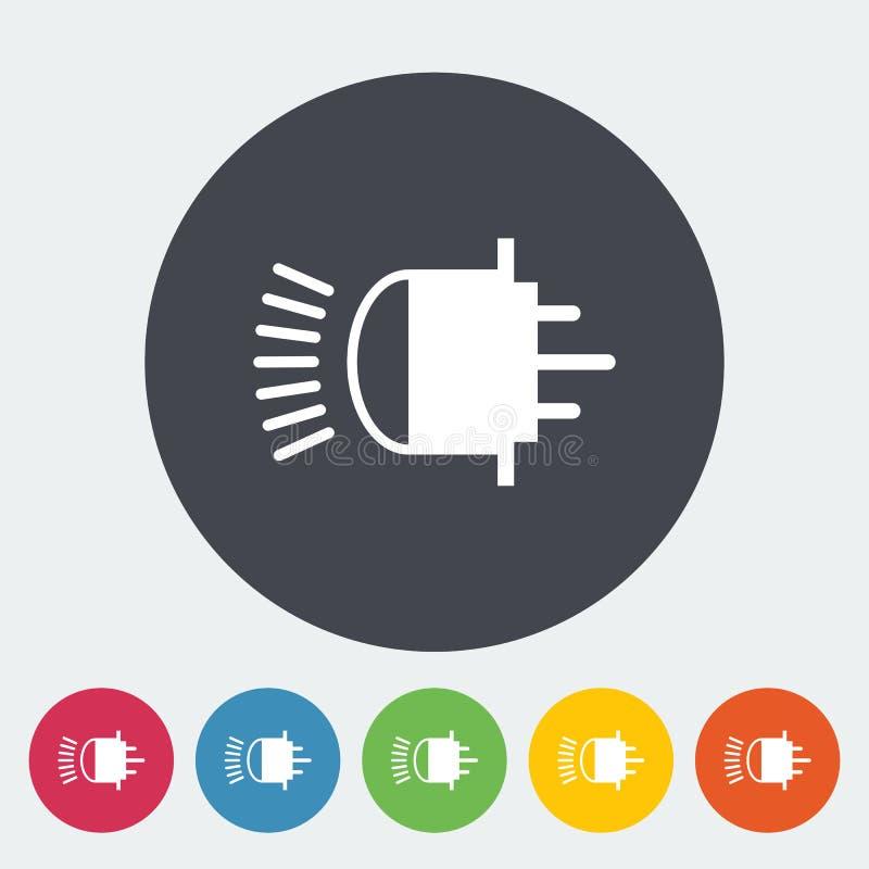 Download Flache Ikone Der Xenonauto-Lampe Vektor Abbildung - Illustration von glas, auslegung: 90231694