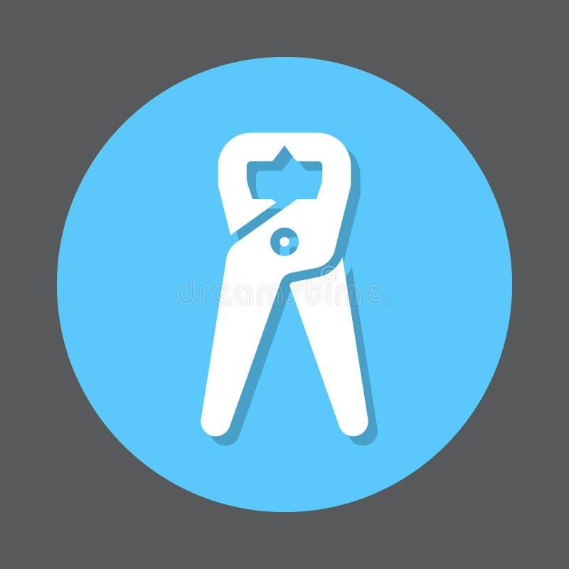 Flache Ikone der Zangen-Zangen lizenzfreie abbildung