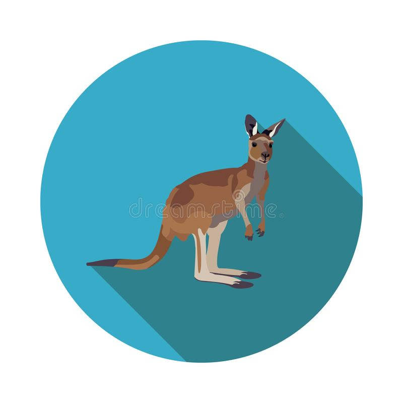 Flache Ikone des australischen Kängurus lizenzfreie abbildung