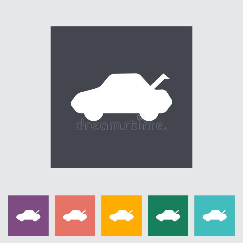 Download Flache Ikone des Autos vektor abbildung. Illustration von einfachheit - 90230904