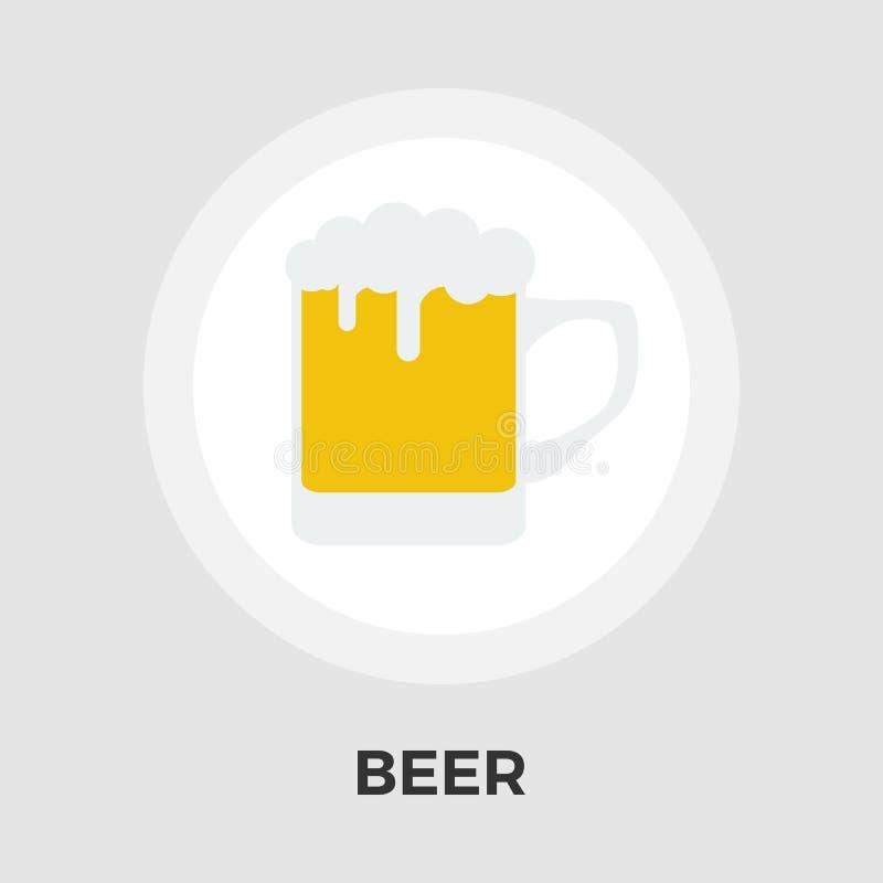Download Flache Ikone des Bieres vektor abbildung. Illustration von nachricht - 90225925