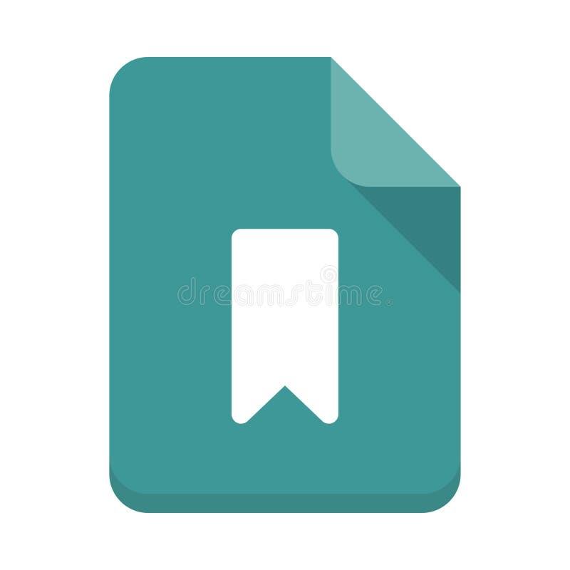 Flache Ikone des Bookmark-Dateivektors lizenzfreie abbildung