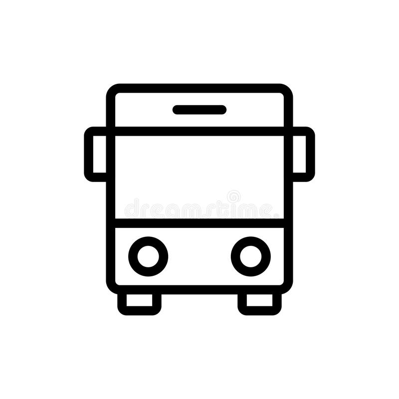 Flache Ikone des Busses stock abbildung