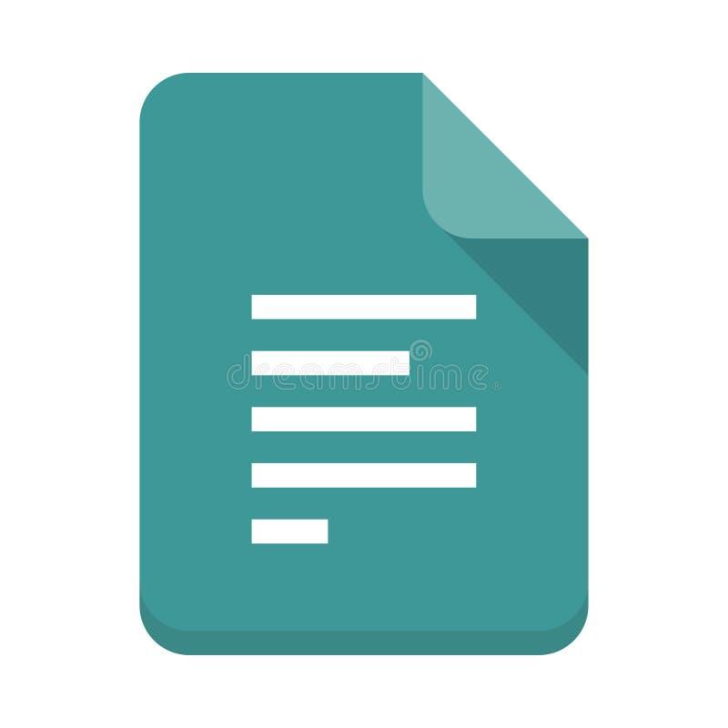 Flache Ikone des Dateiausrichtungs-Vektors stock abbildung