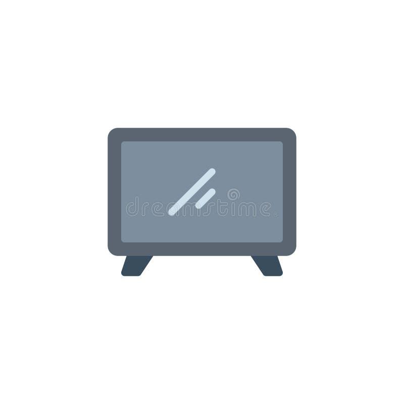 Flache Ikone des Fernsehers vektor abbildung
