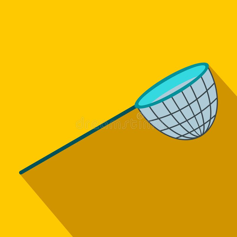 Flache Ikone des Fischernetzes lizenzfreie abbildung