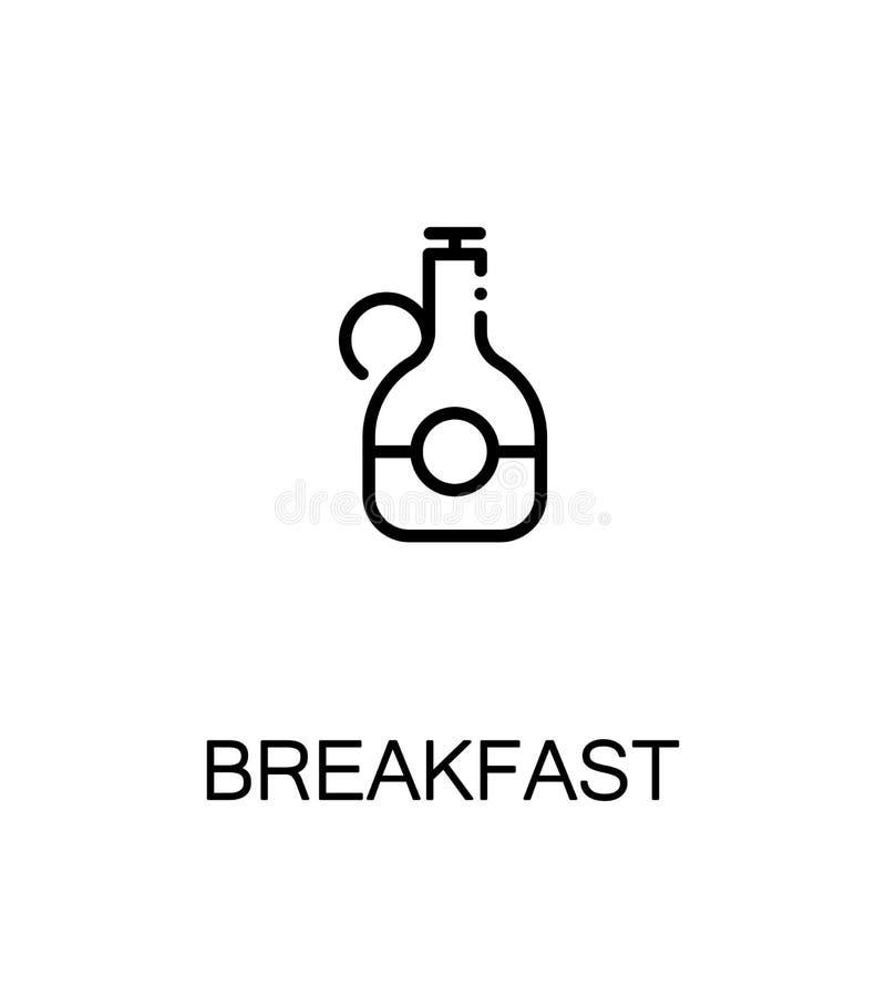 Flache Ikone des Frühstücks stock abbildung