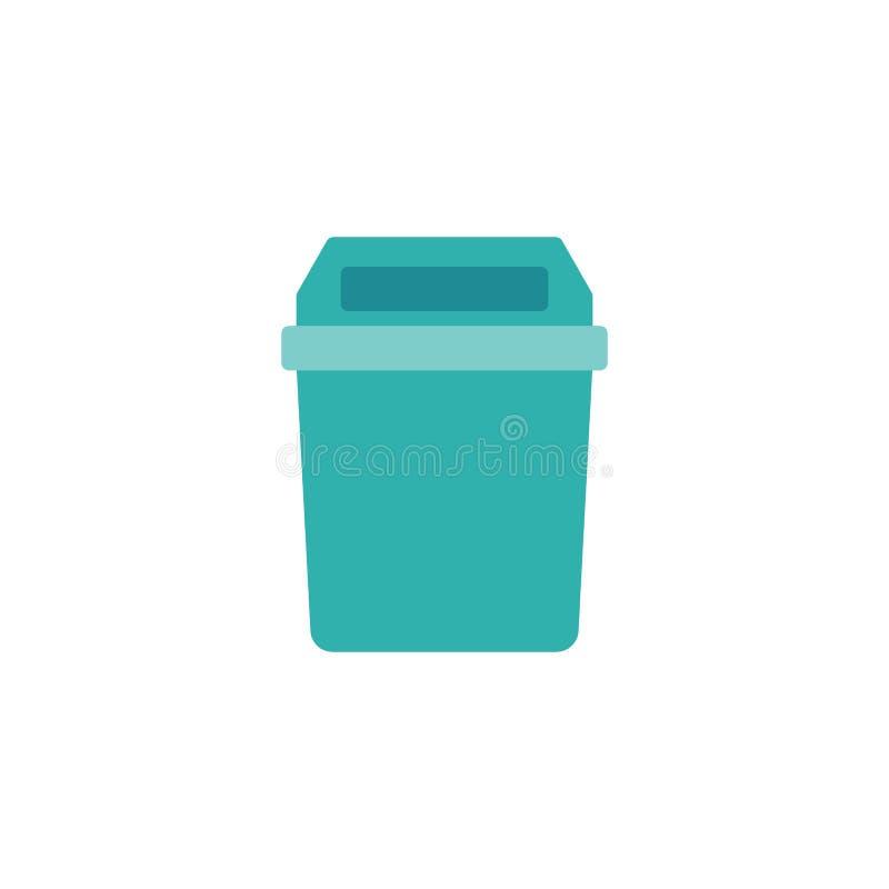 Flache Ikone des Küchenabfall-Korbes stock abbildung