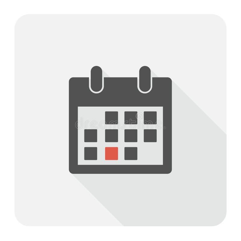 Flache Ikone des Kalenders stockfotografie