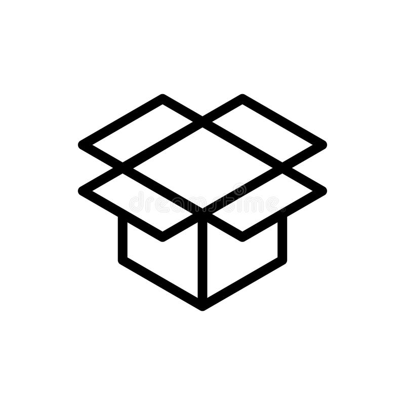 Flache Ikone des Kastens vektor abbildung