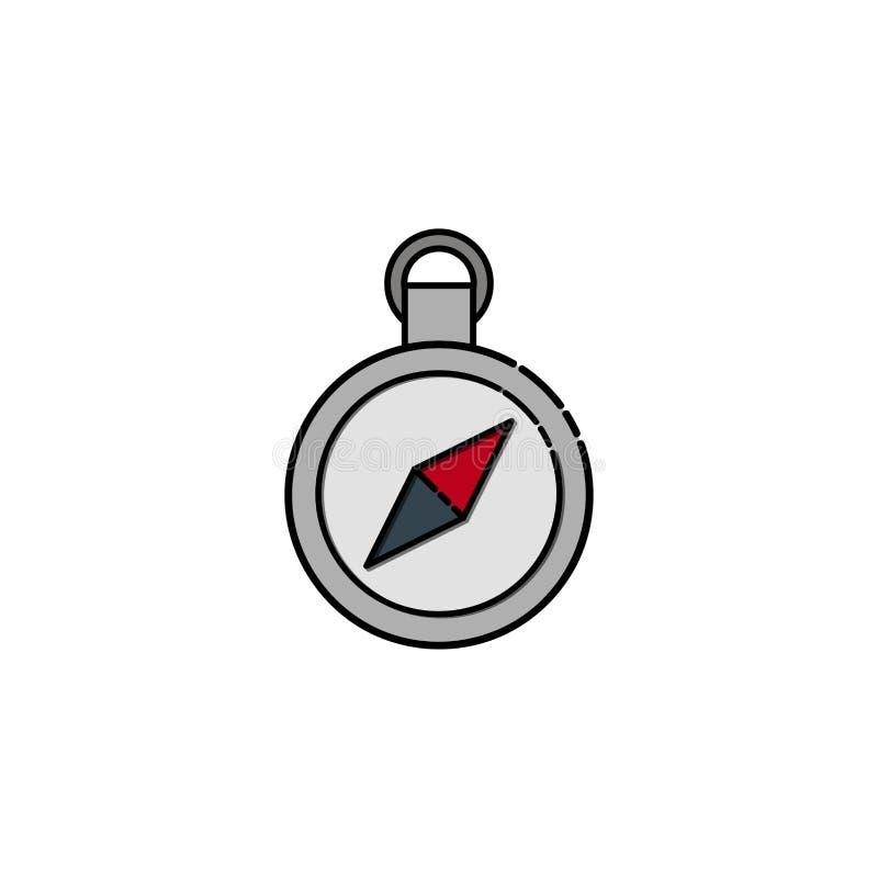 Flache Ikone des Kompassses stock abbildung