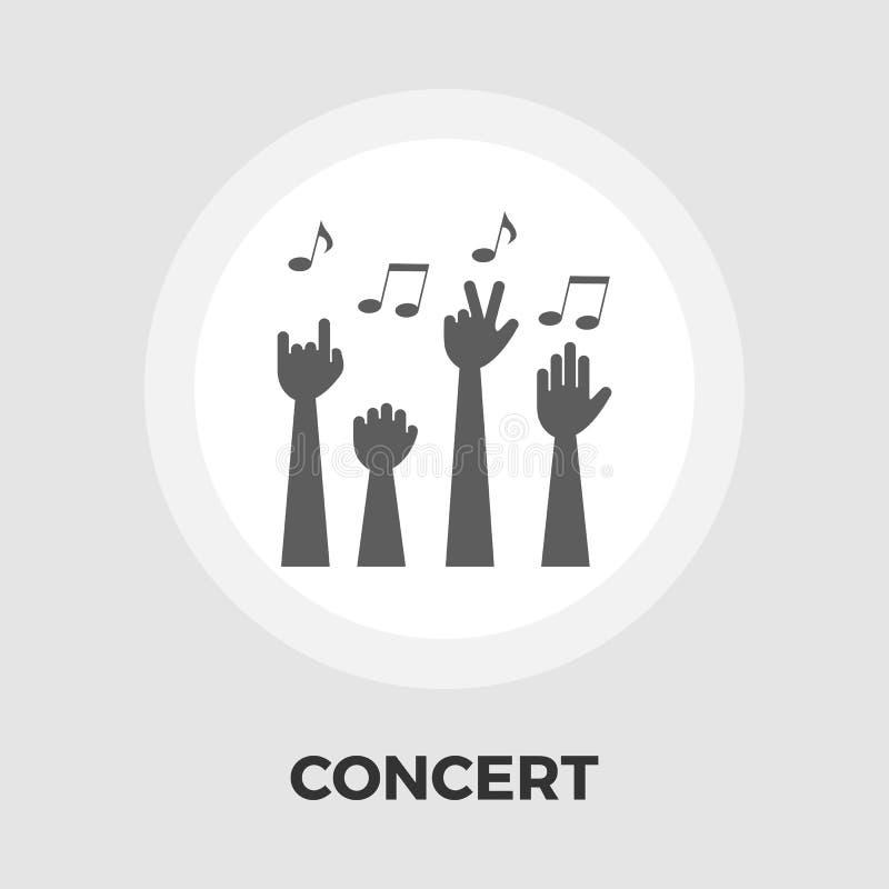 Flache Ikone des Konzerts stock abbildung
