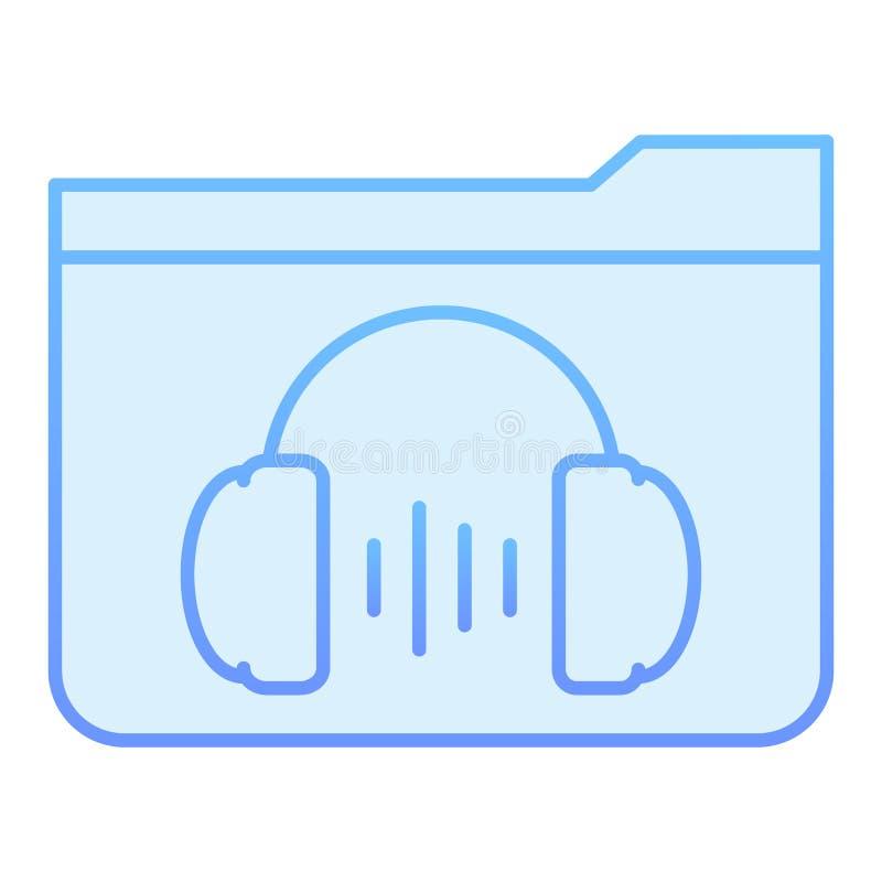 Flache Ikone des Musikordners E r vektor abbildung