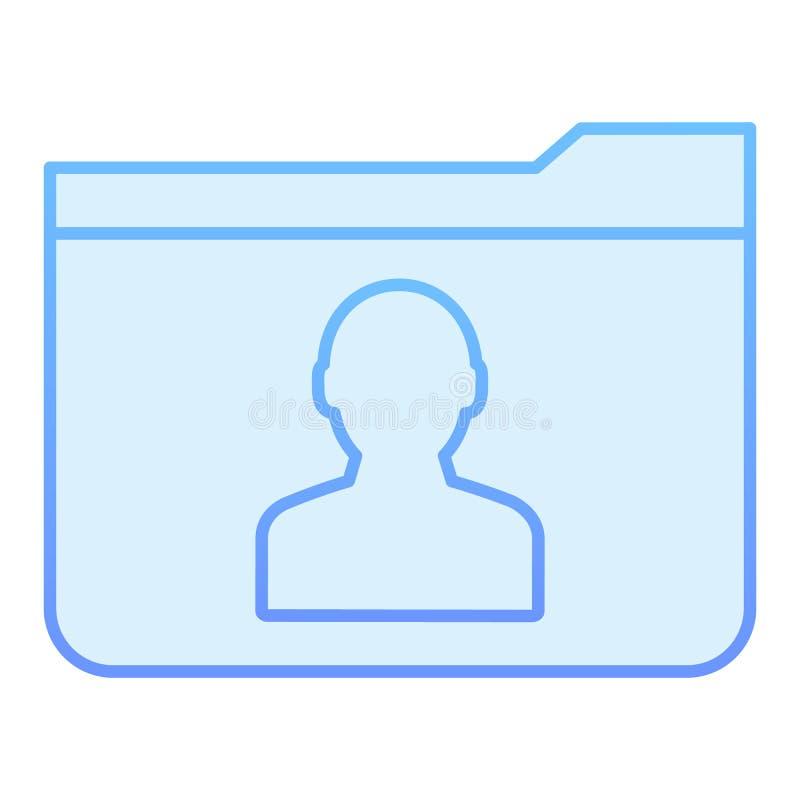 Flache Ikone des persönlichen Ordners Blaue Ikonen des Mitgliedsordners in der modischen flachen Art Computerordnersteigungs-Arte vektor abbildung