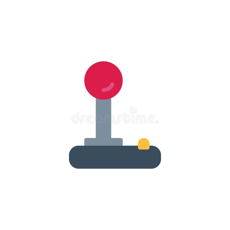 Flache Ikone des Retro- Videospielsteuerknüppels stock abbildung