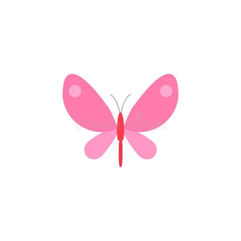 Flache Ikone des Schmetterlinges, Frühlingsostern-Elemente vektor abbildung