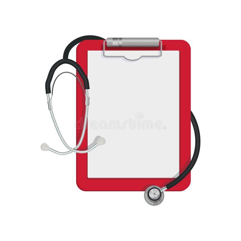 Flache Ikone des Stethoskops lizenzfreie abbildung