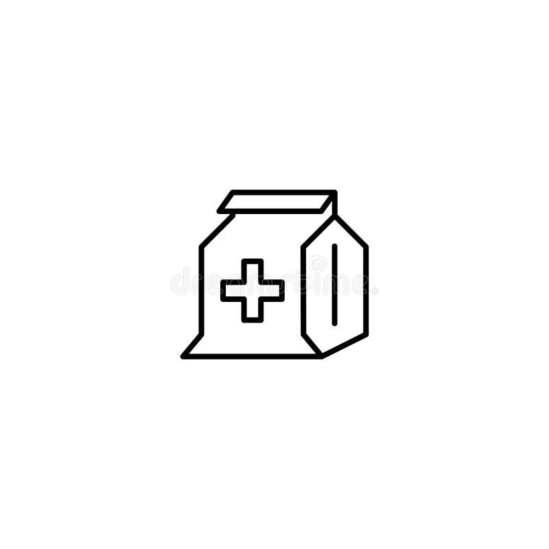 Flache Ikone des Tierarztes vektor abbildung