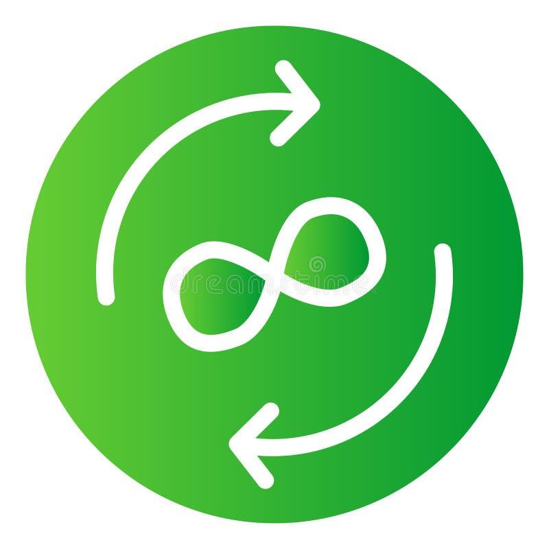 Flache Ikone des Unendlichkeitsaustausches Kreispfeile färben Ikonen in der modischen flachen Art Pfeile und Unendlichkeitssymbo vektor abbildung
