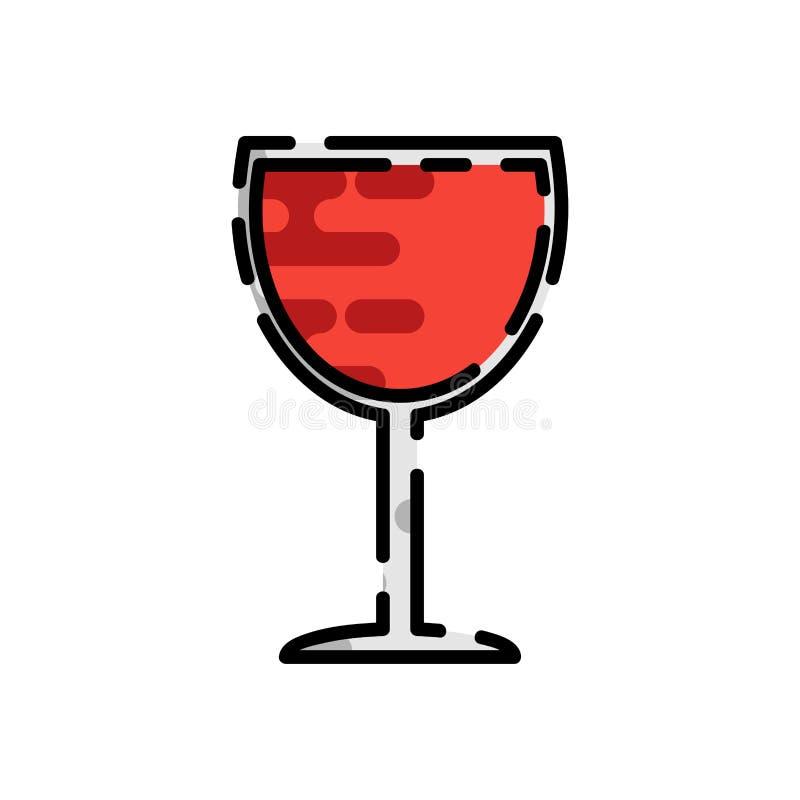 Flache Ikone des Weins lizenzfreie abbildung