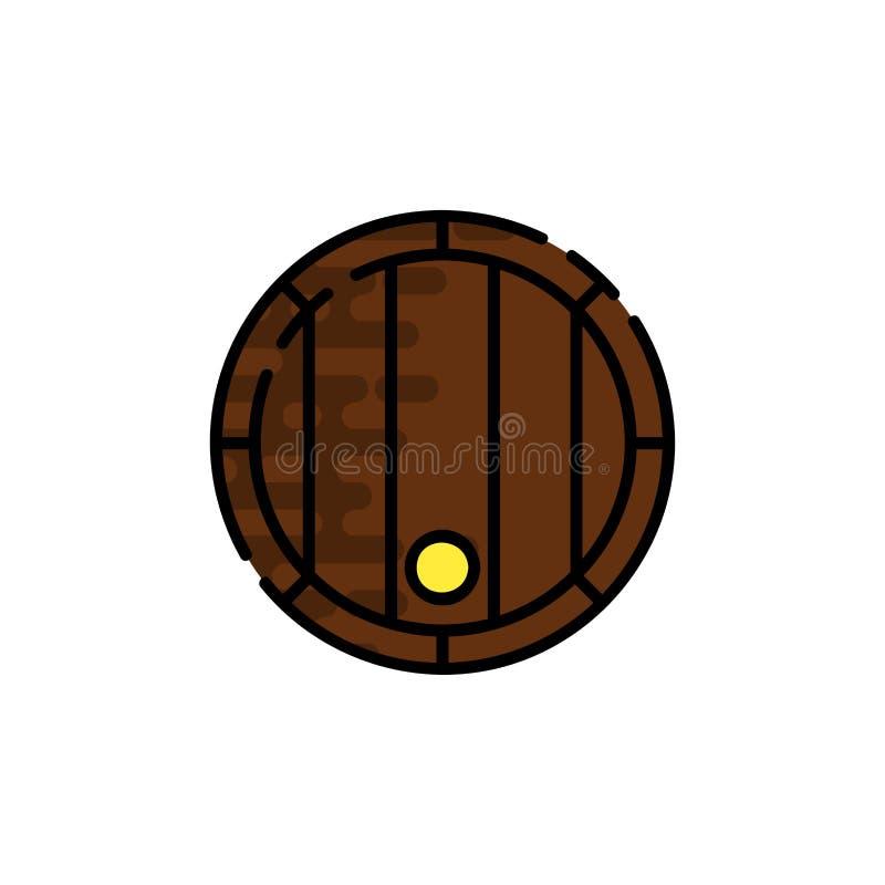 Flache Ikone des Weins stock abbildung