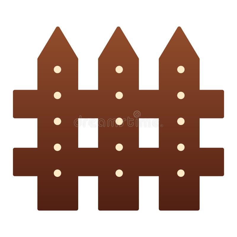 Flache Ikone des Zauns Sperrenfarbikonen in der modischen flachen Art Plankensteigungs-Artentwurf, bestimmt für Netz und App ENV  vektor abbildung