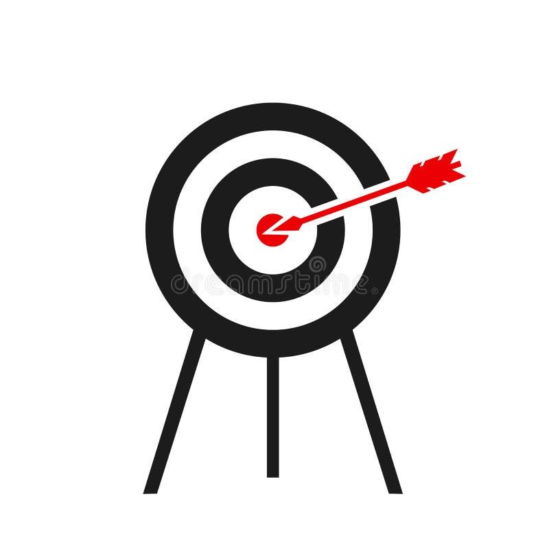 Flache Ikone des Ziels - für Vorrat vektor abbildung
