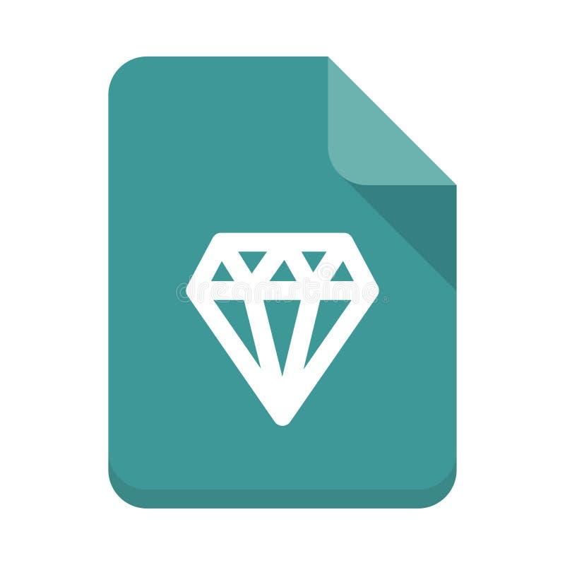 Flache Ikone Diamond File-Vektors stock abbildung