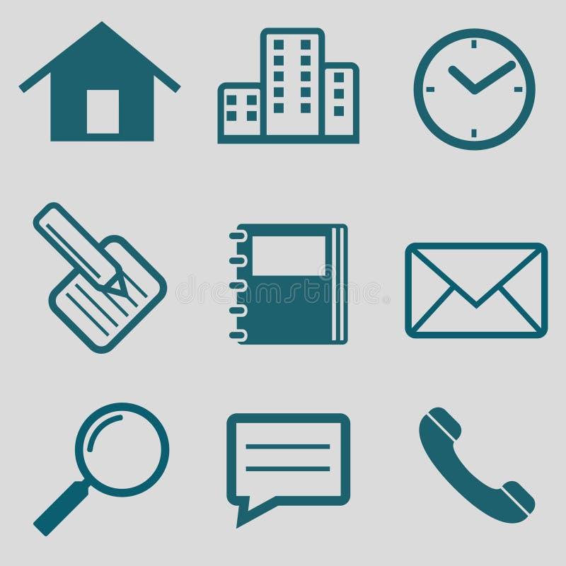 Flache Ikone für Kommunikation lizenzfreies stockfoto