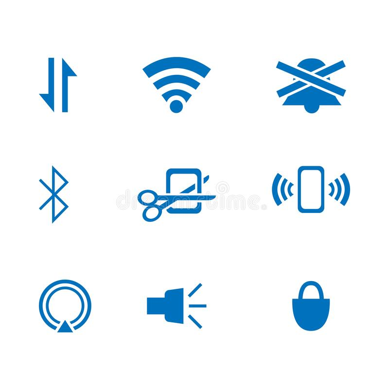 Flache Ikone für Webdesign oder beweglichen APP-Vektor stock abbildung
