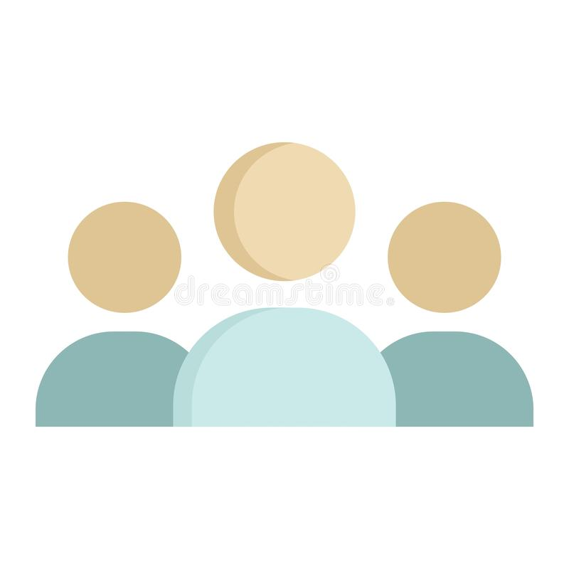Flache Ikone, Geschäft und Gruppe des Teams vektor abbildung