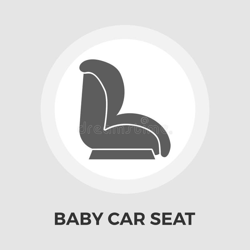 Download Flache Ikone Kinderauto-Seats Vektor Abbildung - Illustration von taste, sitz: 90225114
