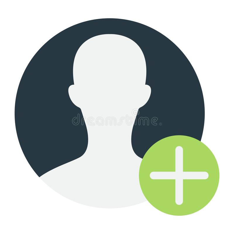 Flache Ikone, Konto und Website des Benutzerprofils stock abbildung