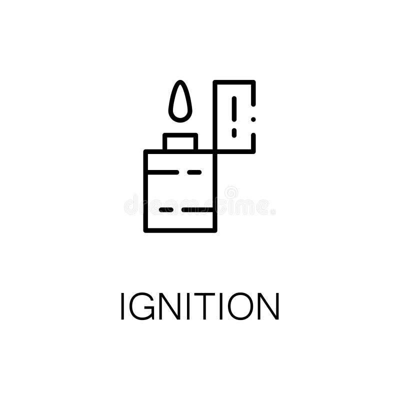 Flache Ikone oder Logo der Zündung für Webdesign stock abbildung