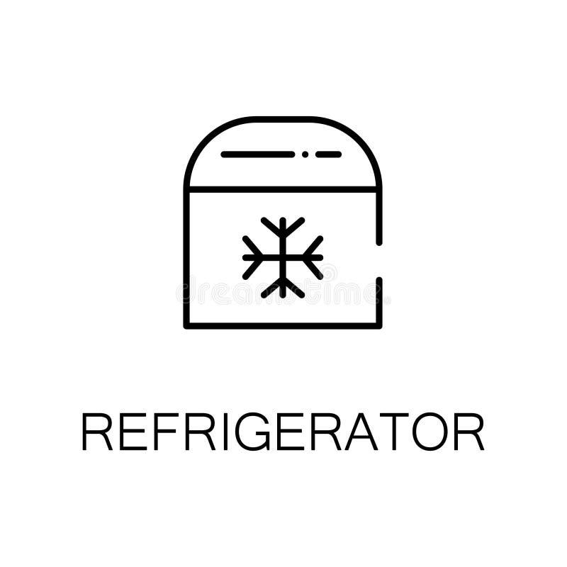 Flache Ikone oder Logo des Kühlschranks für Webdesign lizenzfreie abbildung