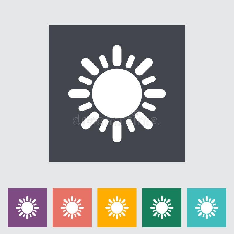 Flache Ikone Sun lizenzfreie abbildung
