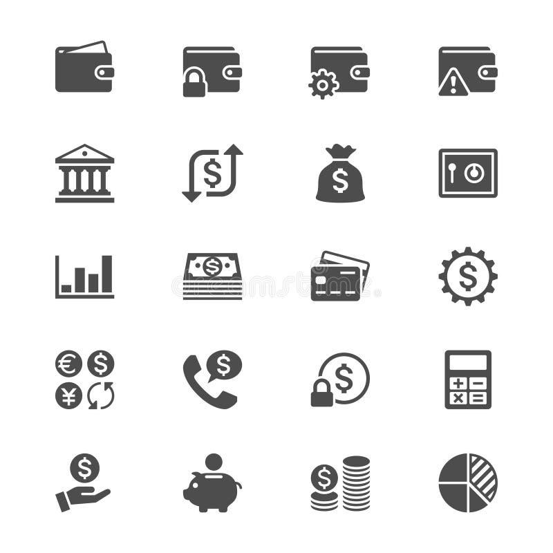 Flache Ikonen der Finanzverwaltung stock abbildung