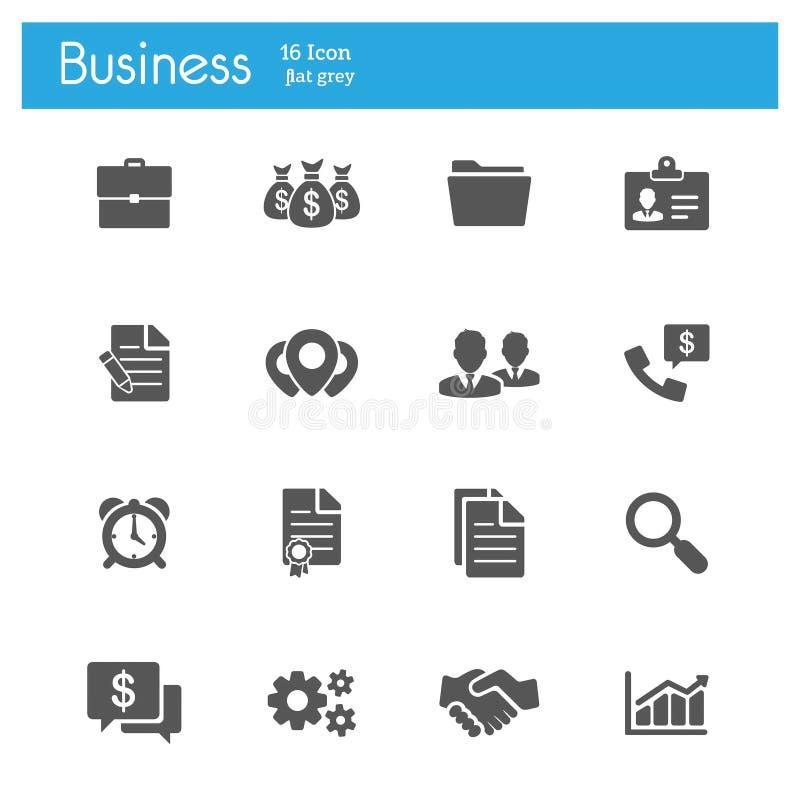 Flache Ikonen des Finanz-und Geschäfts-Vektors lizenzfreie abbildung