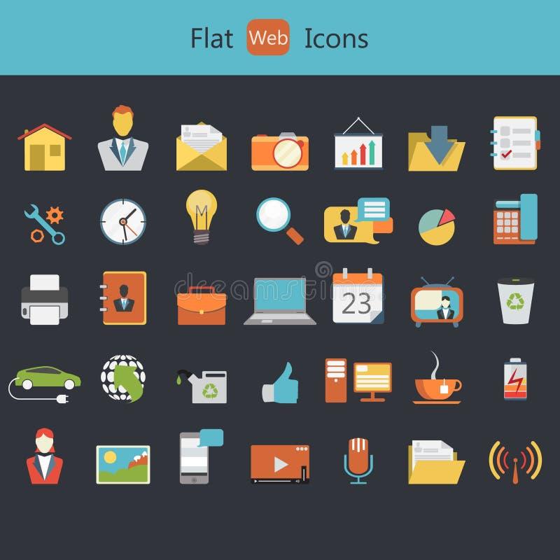 Flache Ikonen für Netz und bewegliche Anwendungen vektor abbildung
