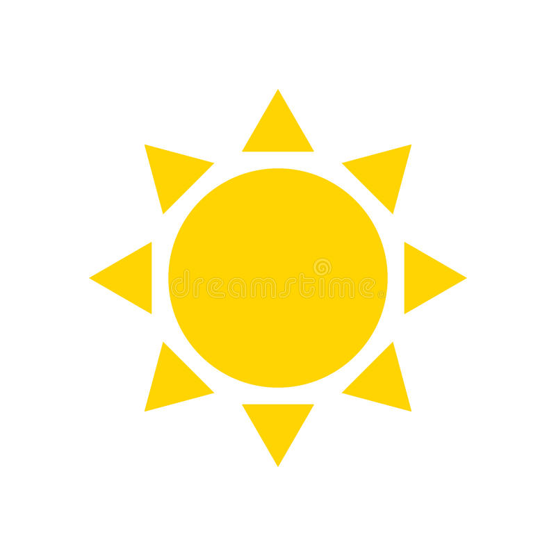 Flache Ikonensonne stock abbildung