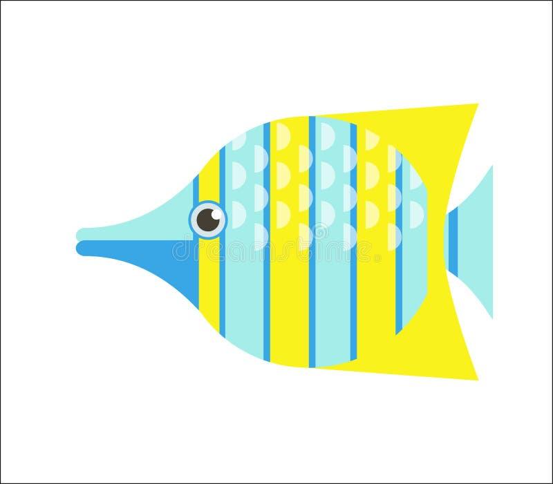 Flache Illustration der Butterflyfish lizenzfreie abbildung