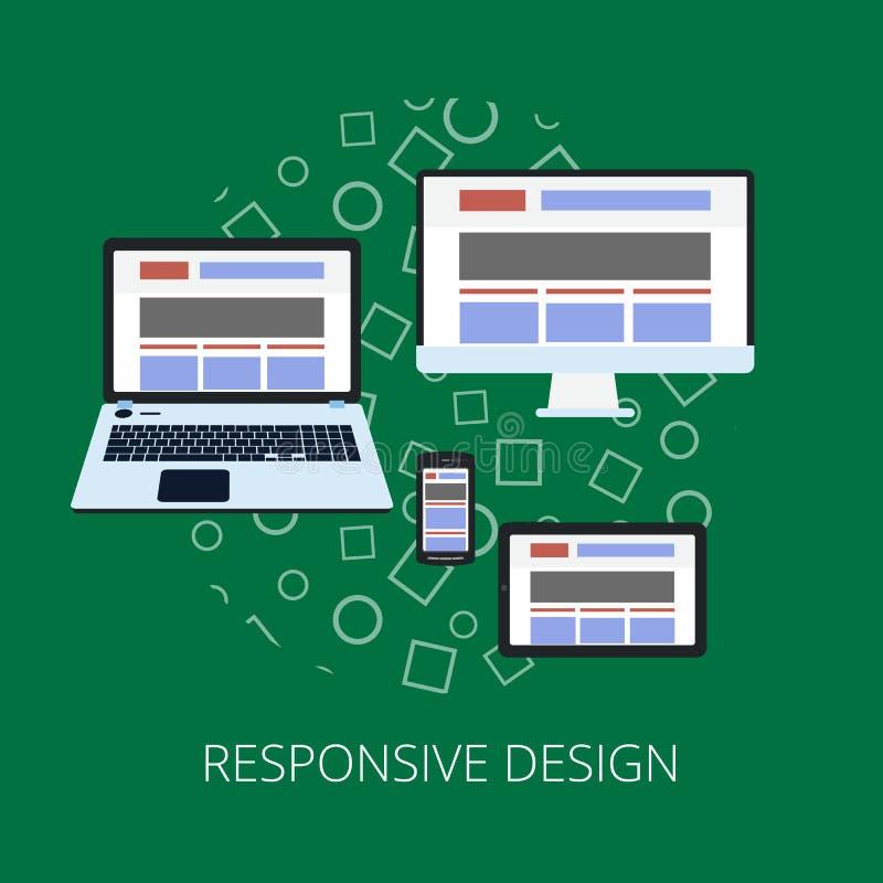 Flache Konzept- des Entwurfesikonen für Netz und bewegliche Dienstleistungen Apps-Ikonen für das Internet, das entgegenkommendes  stock abbildung